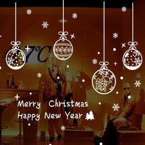 Merry Christmas Snowflake Pendants DIY Wall Stickers Window Decor -