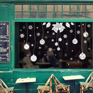 Showcase Decor Christmas Snowflake Pendants DIY Wall Stickers