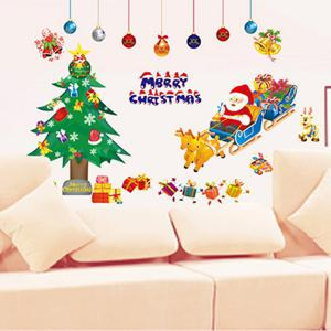 Removable Merry Christmas DIY Home Decoration Wall Stickers - COLORFUL
