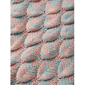Hiver Épaissir Crochet Throw Wrap Mermaid Blanket - Abricot