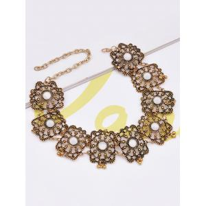 Vintage Hollow Out Floral Choker Necklace -
