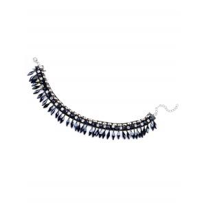 Cristal Artificielle Tassel Necklace Choker -