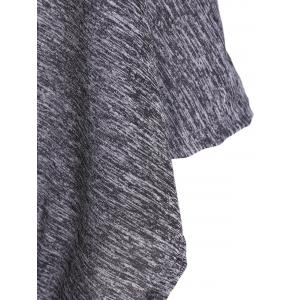 Bat-Wing Sleeve Loose Tie-Dyed Blouse - GRAY XL