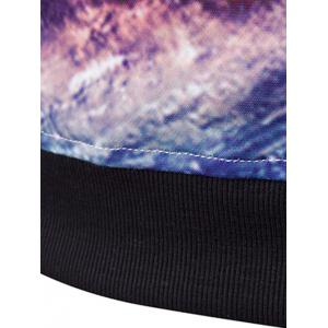 3D Starry Sky Printed Long Sleeve Hoodie - COLORMIX 2XL