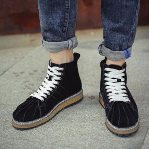 Suede Shell Toe Ankle Boots -