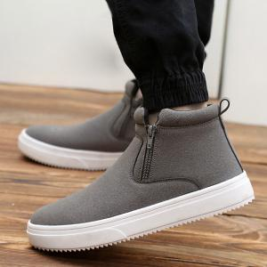 Casual Bottes Double Zips Suede -