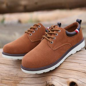 Suede Eyelet Casual Shoes -