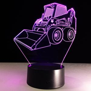 7 Color Touch Changing 3D Bulldozer Night Light