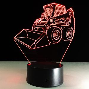 7 Color Touch Changing 3D Bulldozer Night Light -