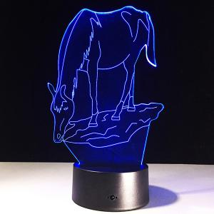 7 Color Touch Changing 3D Horse Night Light - TRANSPARENT