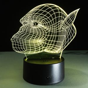 7 Color Touch Changing 3D Gorilla Night Light - TRANSPARENT