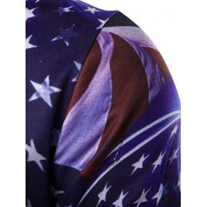 Hooded 3D American Flag Print Hoodie - COLORMIX 2XL