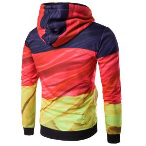 Hooded 3D Flag of Germany Print Patriotic Hoodie - COLORMIX 2XL