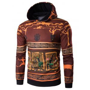 Hooded 3D Ethnic Style Cartoon Print Hoodie