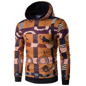 Hooded 3D Ethnic Style Totem Print Hoodie