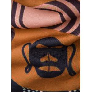 Hooded 3D Ethnic Style Totem Print Hoodie - COLORMIX 2XL