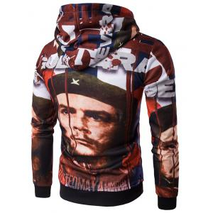 Hooded 3D Soldier Print Hoodie - COLORMIX 2XL