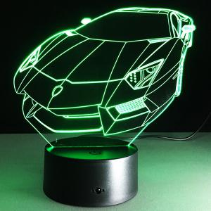 7 Color Touch Changing 3D Roadster Night Light -