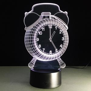 7 Color Touch Changing 3D Clock Night Light -