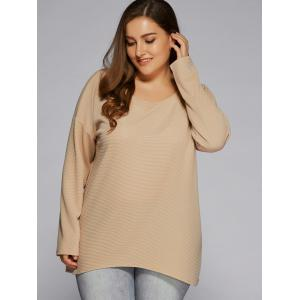 Plus Size Criss Cross Backless Sweater -