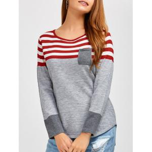 Casual Long Sleeves Striped Pullover Sweater