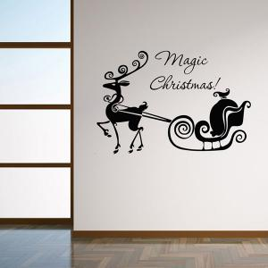 Magic Christmas Removable Glass Window Wall Stickers