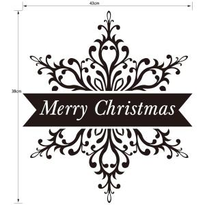 Merry Christmas Banner Wall Stickers Window Showcase Decoration -