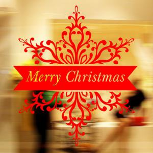 Merry Christmas Banner Wall Stickers Window Showcase Decoration
