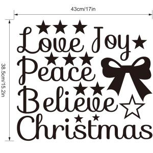 Removable Christmas Letters Wall Stickers Showcase Decoration -