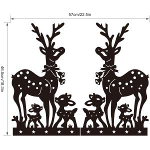 Removable Deer Pattern Christmas Showcase Wall Stickers -