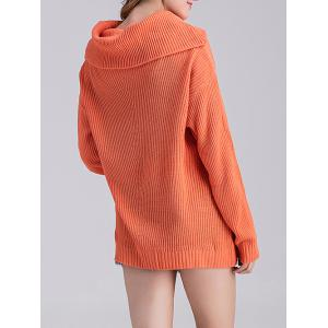 Loose Fit Long Cowl Sweater -