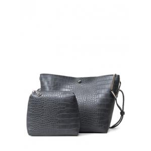 Magnetic Closure Embossed Metal Shoulder Bag