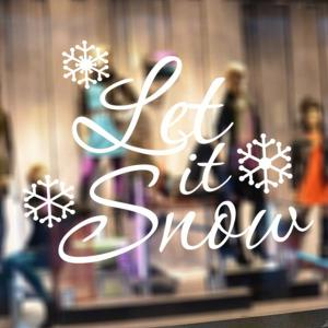 Christmas Let It Snow Removable Glass Window Wall Stickers -