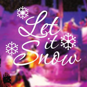 Christmas Let It Snow Removable Glass Window Wall Stickers - WHITE