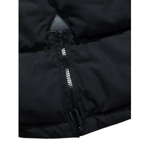 Multi Pockets Quilted Jacket with Detachable Hood -