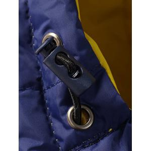 Zip Up Pocket Design Hooded Padded Jacket -