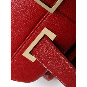 Buckle Strap PU Leather Tote -