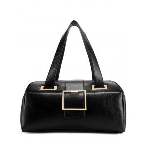 Buckle Strap PU Leather Tote