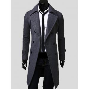 Lengthen Double Breasted Wool Coat