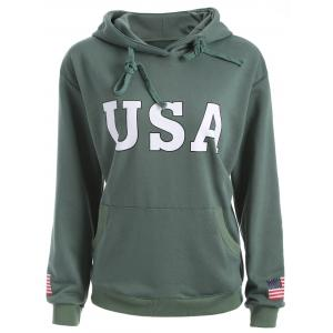 USA Jumper Hoodie - Army Green - S