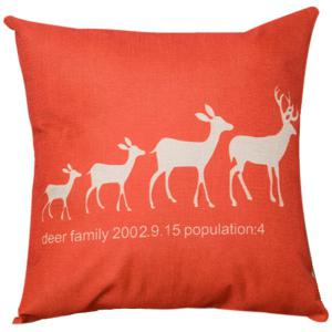 Festive Christma Deer Family Sofa Bed Pillow Case