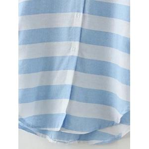 Striped Long Loose Shirt -