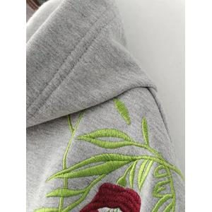 Embroidered String Thickening Hoodie -