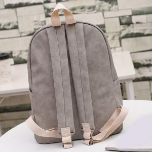 Zippers Embroided PU Leather Backpack -