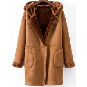 Faux Shearling Coat With Pockets