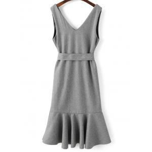 Sleeveless Wool Blend Mermaid Dress