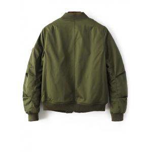 Zipped Bomber Jacket -