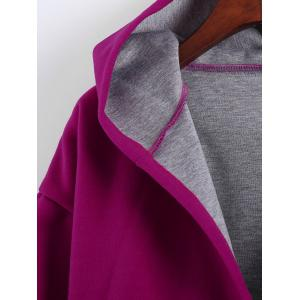 Plus Size Hooded Candy Color Long Open Front Coat -