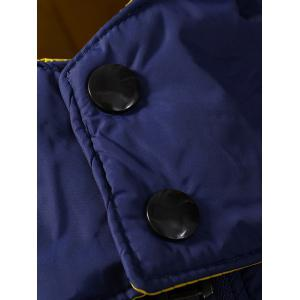 Zip Pocket Hooded Padded Jacket - STONE BLUE M