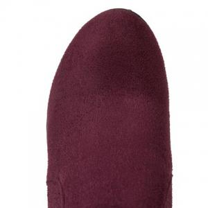 Bow Mid Calf Hidden Wedge Boots - WINE RED 39